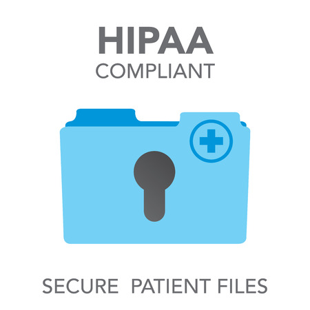 HIPAA Compliance Icon Graphic For Medical Document Security