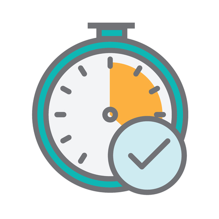 Image that illustrates tracking your time Vectores
