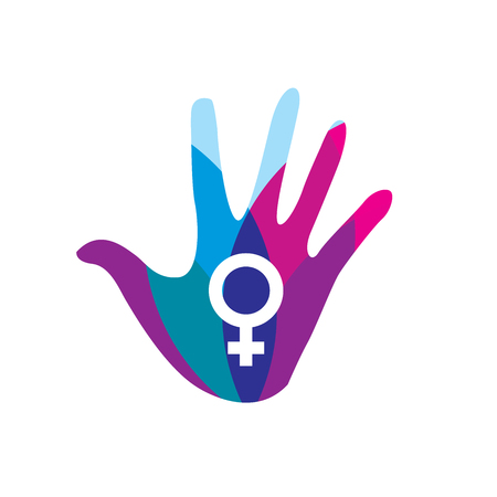 female symbol: Colorful Womens Services Icon with Female Symbol