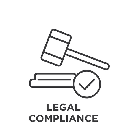 Legal Compliance Graphic with Judge Mallet