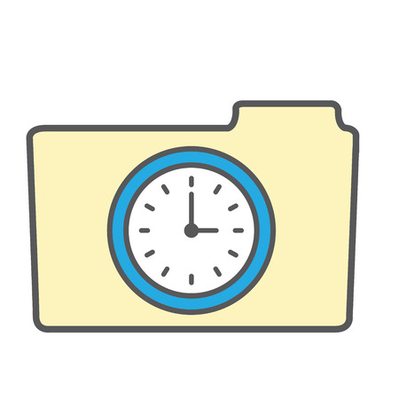 timecard: Image that illustrates tracking your time Illustration