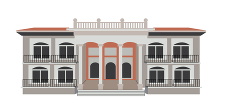 Mexican Mansion with Columns