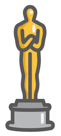 Generic Golden Man Trophy Graphic on a Stand