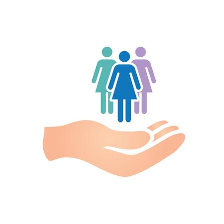 Kleurrijke Women's Services icoon met Vrouwelijk Symbool