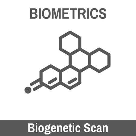 biometric: DNA and Blood Biometric Scanning Recognition Illustration