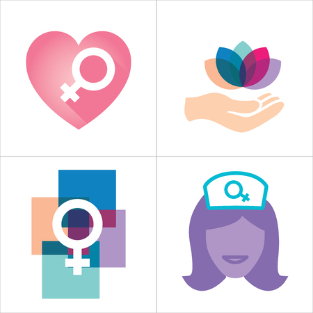 obgyn: Colorful Womens Services Icon with Female Symbol
