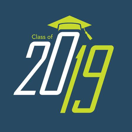 graduating seniors: Class of 2019 Congratulations Graduate Typography with cap