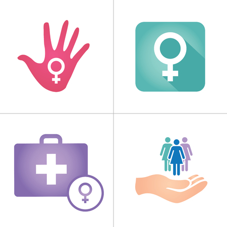 symbolize: Colorful Womens Services Icon with Female Symbol