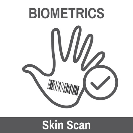 biometric: Biometric Scan - Hand or Fingerprint. Illustration