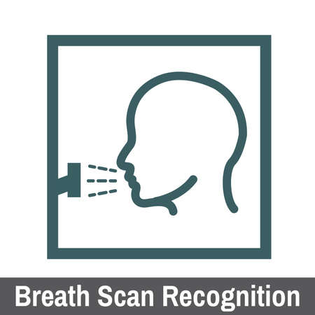 biometric: Biometric Scanning Graphic Breath Scan Recognition
