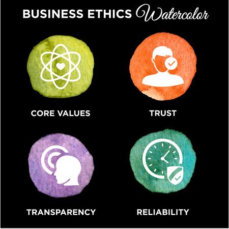 Définir l'éthique des affaires Solid Icône