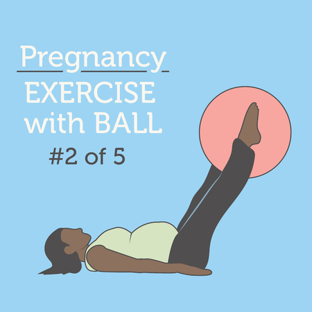 A Diverse African American Young Lady doing Pregnancy Exercise and Yoga Workouts