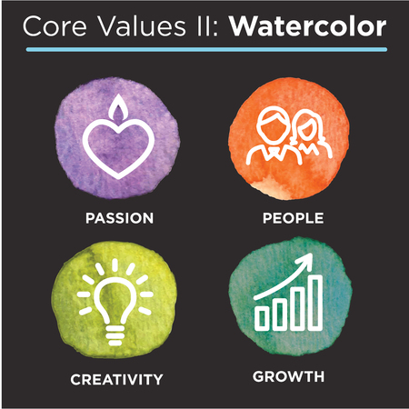skill: Company Core Values Outline Icons for Websites or Infographics