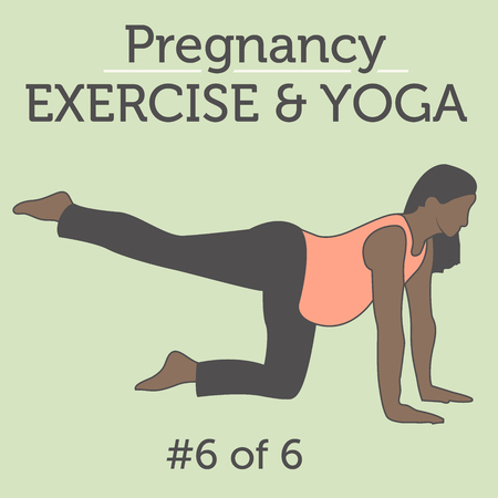 squat: A Diverse African American Young Lady doing Pregnancy Exercise and Yoga Workouts