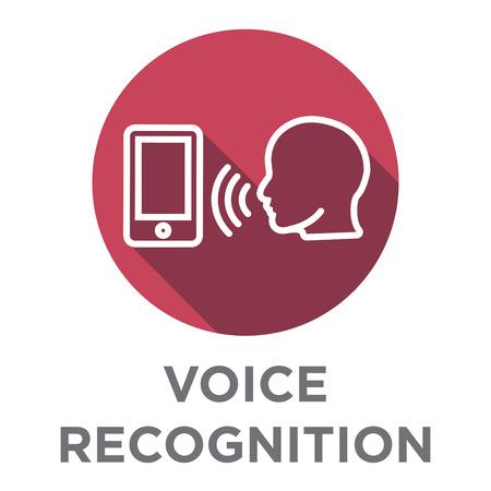Icône de voix ou de commande vocale avec jeu d'images de sonorité Banque d'images - 76576761
