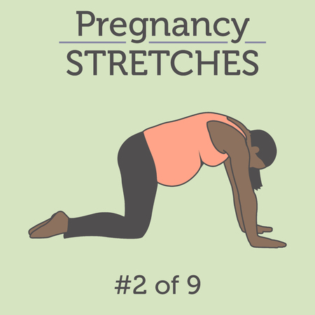 technique: A Diverse African American Young Lady doing Pregnancy Exercise and Yoga Workouts