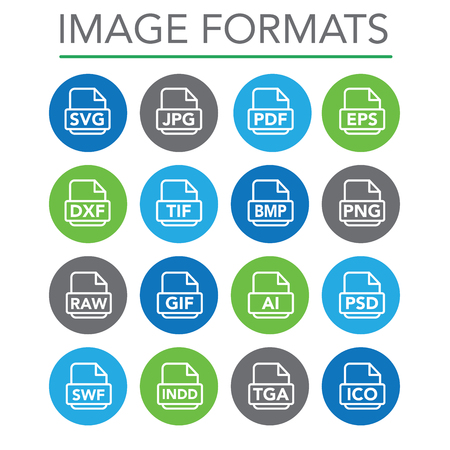 svg: Icons to show different image formats, including JPG, SVG, EPS, DXF, etc