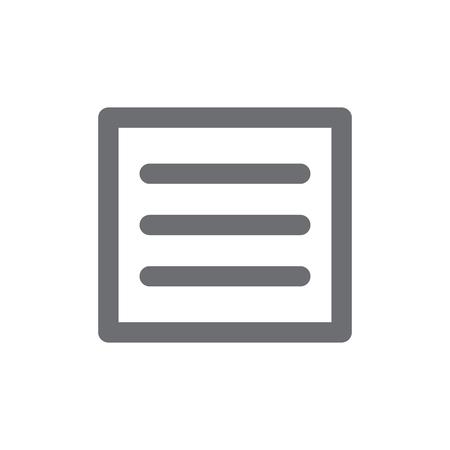 L'icône du menu Hamburger pour la facilité de dérangement sur la tablette ou le smartphone Banque d'images - 79343377