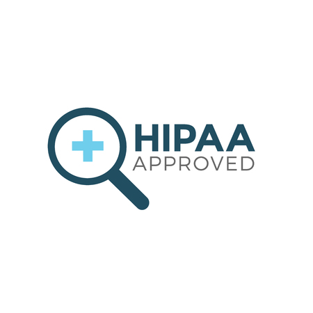 HIPAA Compliance Icon Grafisch - GOEDGEKEURD Stock Illustratie