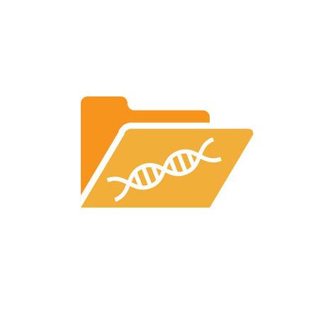 조상 또는 계통 학 아이콘 의료 기록을위한 DNA 헬릭스 일러스트