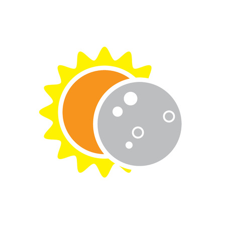 Total Solar Eclipse Icon for August 8, 2017 Vettoriali