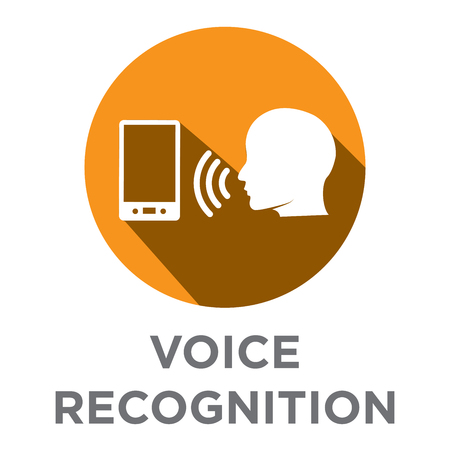 Voiceover or Voice Command Icon with Sound Wave Images Set - solid Stock fotó - 82019483