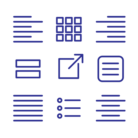 Justified type icon set - left justified, right justified, full, & centered  and UI UX icons Illustration