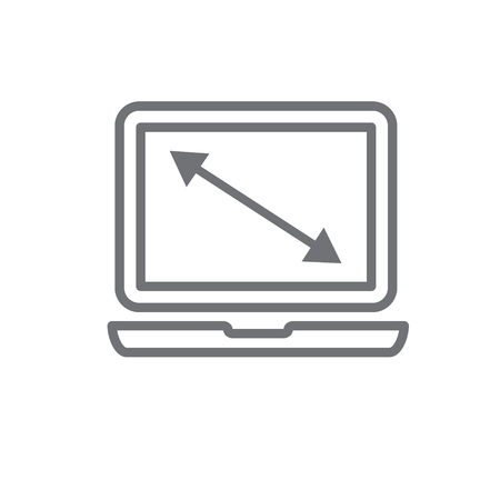 UI or UX High or low res image icon