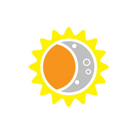 penumbra: Total Solar Eclipse Icon for August 8, 2017 Illustration