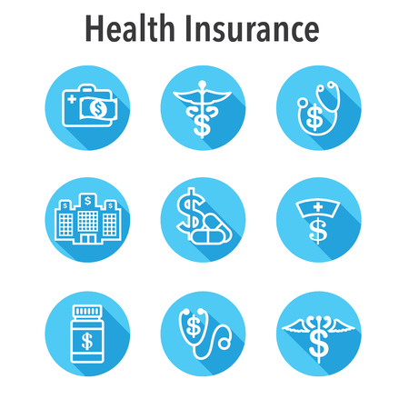 Healthcare costs & expenses showing concept of expensive health care Illustration
