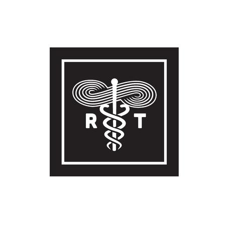 Medisch Symbool van de ademhalingstherapeut Medisch Symbool Stock Illustratie