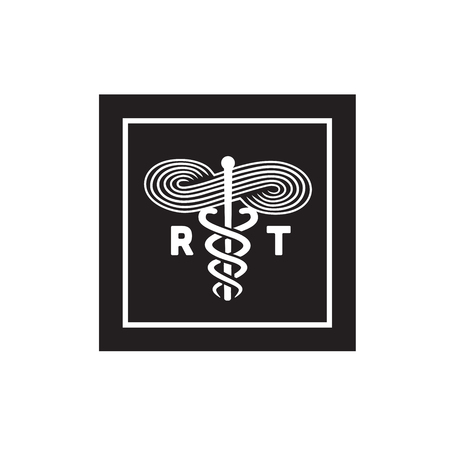 Respiratory Therapist Medical Symbol Icon Stock Vector - 86214038