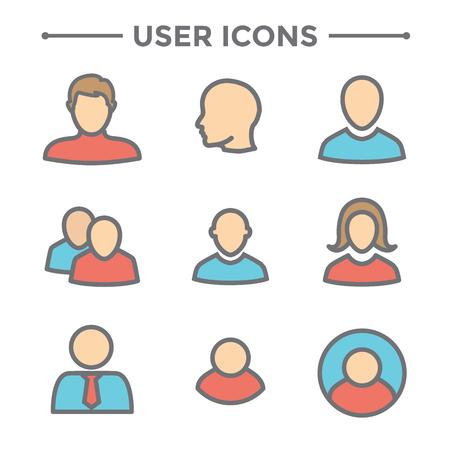 Jeu d'icônes utilisateur