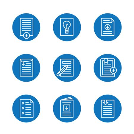 Download pictogram knop instellen Stock Illustratie
