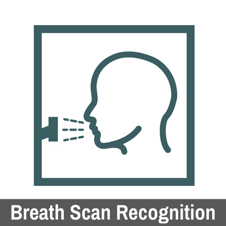Bio metric scanning graphic breath scan recognition illustration.