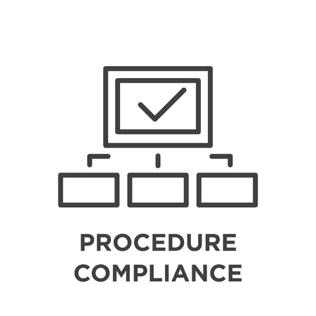 In compliance icon set on white background.