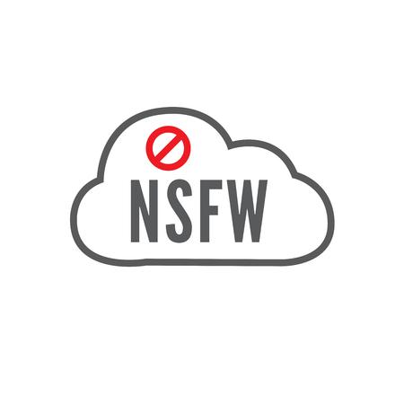NSFW icon -- Not Safe For Work Anagram icon