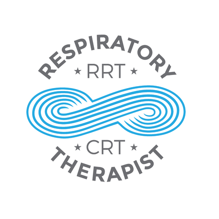 Respiratory Therapist Medical Symbol Icon - RRT, RT or CRT