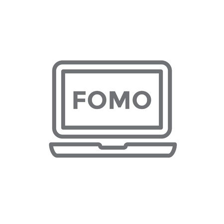 FOMO Social Icon - Fear of Missing Out Trendy Modern Acronym - Social Media Иллюстрация