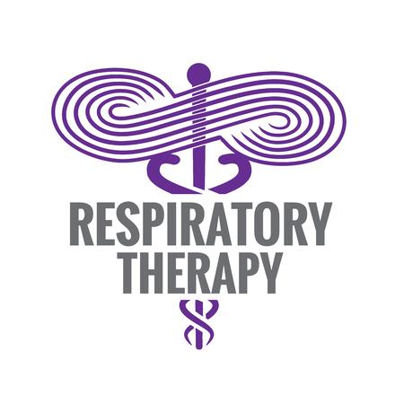 Respiratoire Therapeut Medisch Symbool Pictogram - RRT, RT of CRT Stock Illustratie