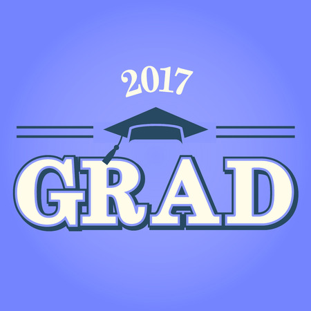 Class of 2017 Congratulations Graduate - Typography  Illustration