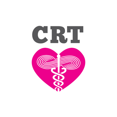 Respiratory Therapist Medical Symbol Icon - RRT, RT or CRT.