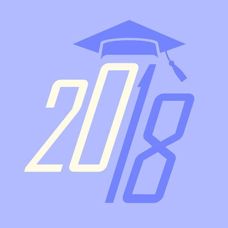 Class of 2018 Congratulations Graduate - Typography  向量圖像