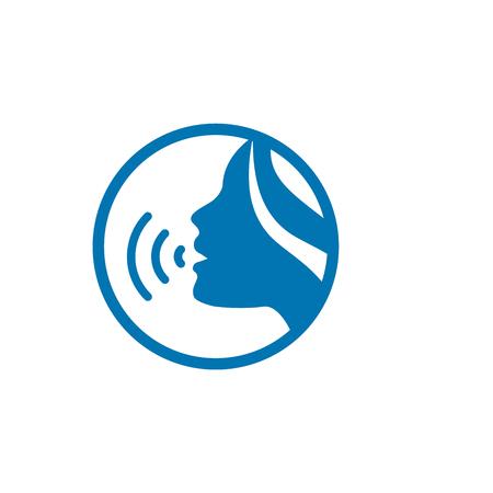 Dźwięk emitujący głos za pomocą akordów głosowych z twarzą