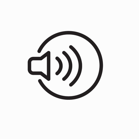 Sound Wave Outline Icon Hearing Loss Listen Image  イラスト・ベクター素材