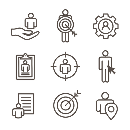Set of target market concept icons.