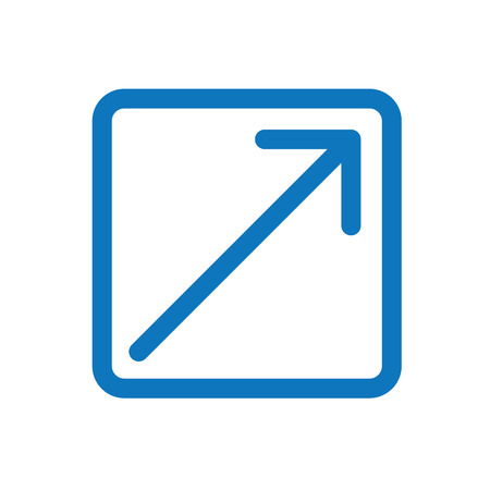 Exit Icon with Arrow and Box to Show Leaving a site illustration. Illustration