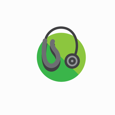 Hearing aid icon with wrap around ear wire and ear canal piece