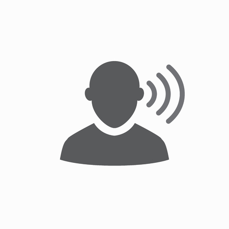 Ear and ear canal outline icon image 일러스트