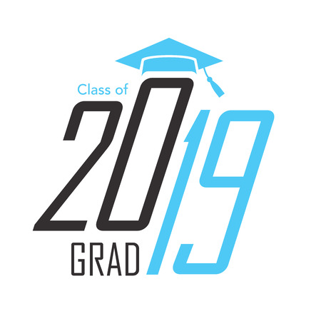 Class of 2019 Congratulations Grad Typography Vector illustration. Illustration